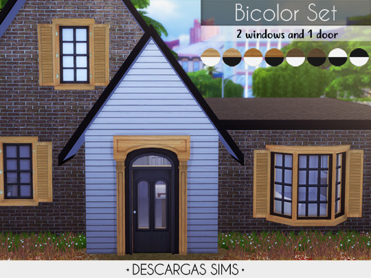 Bicolor Set: 2 windows + door at Descargas Sims image 1429 Sims 4 Updates