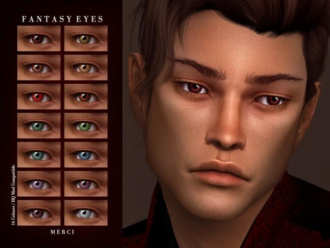 Sims 4 Fantasy Eyes by Merci at TSR
