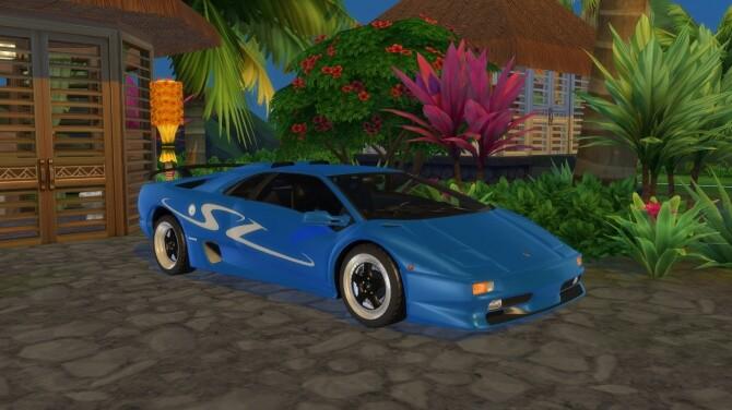 Sims 4 Lamborghini Diablo SV at LorySims