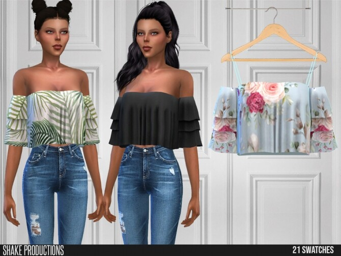 Sims 4 547 Blouse by ShakeProductions at TSR