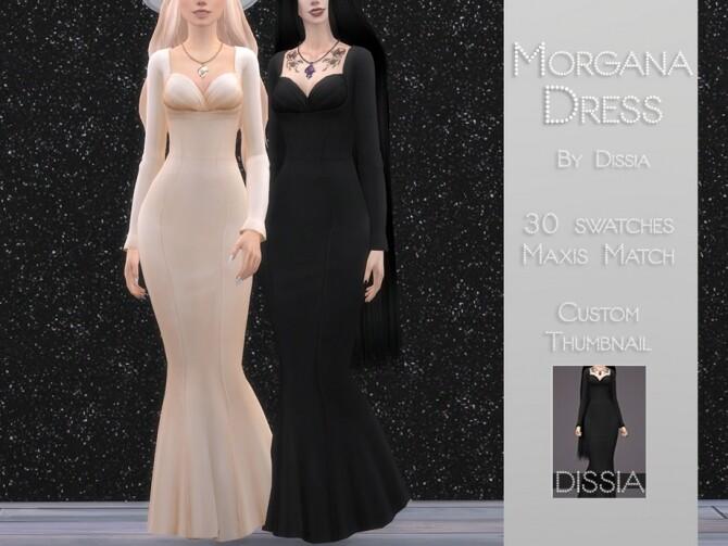 Sims 4 Morgana Dress by Dissia at TSR