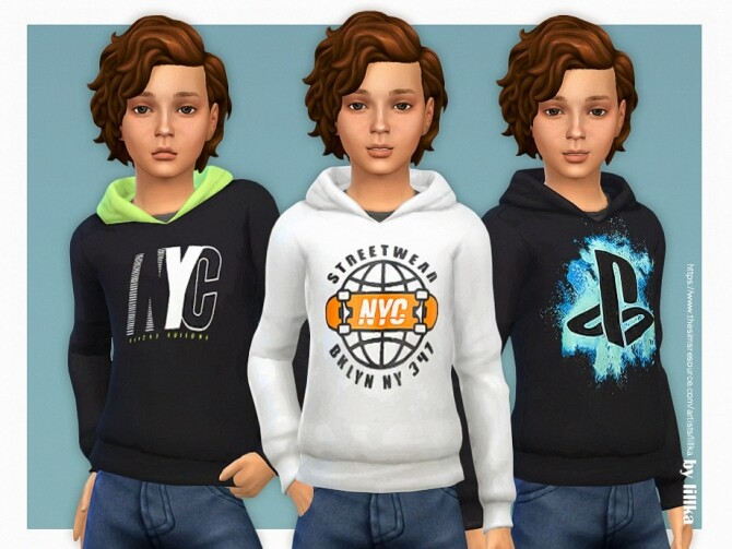 Sims 4 Hoodie for Boys P22 by lillka at TSR