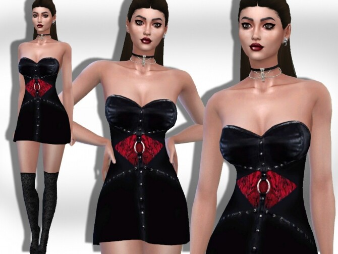 Halloween Vampire Costume Dress by Saliwa at TSR image 1475 670x503 Sims 4 Updates