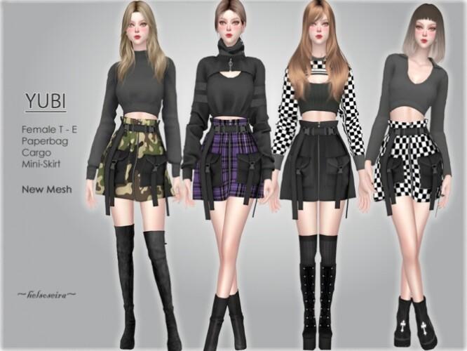 YUBI Paperbag Mini skirt by Helsoseira