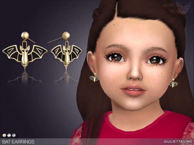 Bat Earrings For Toddlers by feyona at TSR image 1486 670x503 Sims 4 Updates