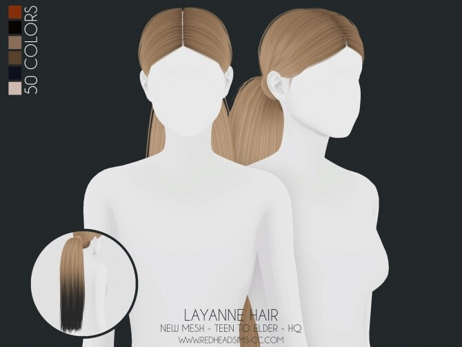 LAYANNE HAIR ALL AGES at REDHEADSIMS image 1497 670x503 Sims 4 Updates