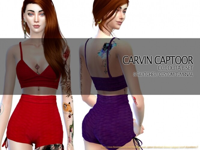 Lolita B Shorts Set by carvin captoor