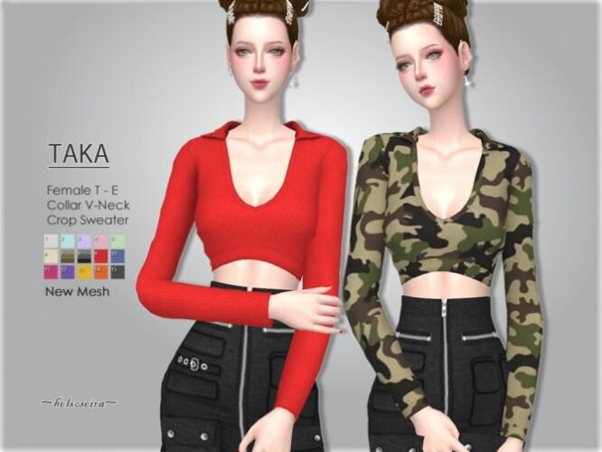 TAKA V-neck Sweater by Helsoseira