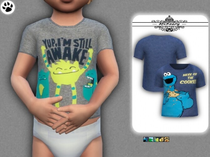 Sims 4 Random Little Toddler Tee by MsBeary at TSR