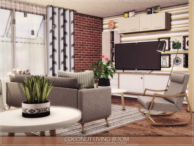 Coconut Living Room by MychQQQ
