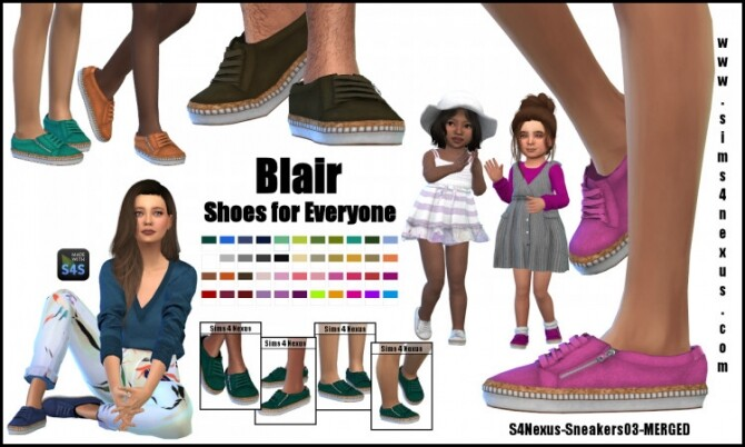 Blair shoes for everyone by SamanthaGump