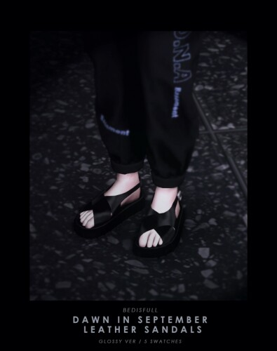 M dawn in september leather sandals