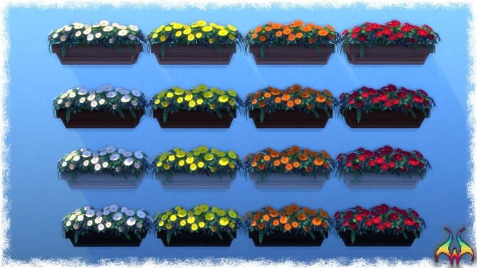 Mumumental Mums Window box by Wykkyd at Mod The Sims image 157 670x377 Sims 4 Updates