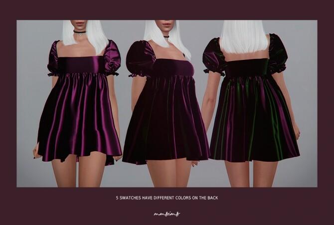 Sims 4 Puff mini dress at MMSIMS