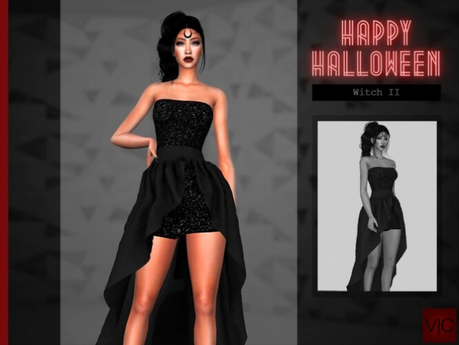 Witch II Dress Halloween VI by Viy Sims