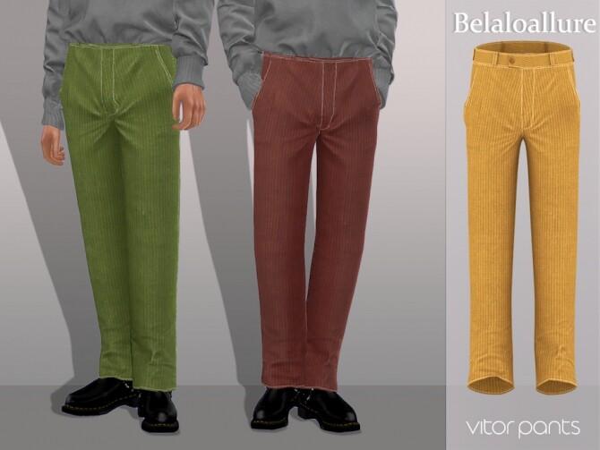 Sims 4 Belaloallure Vitor pants by belal1997 at TSR