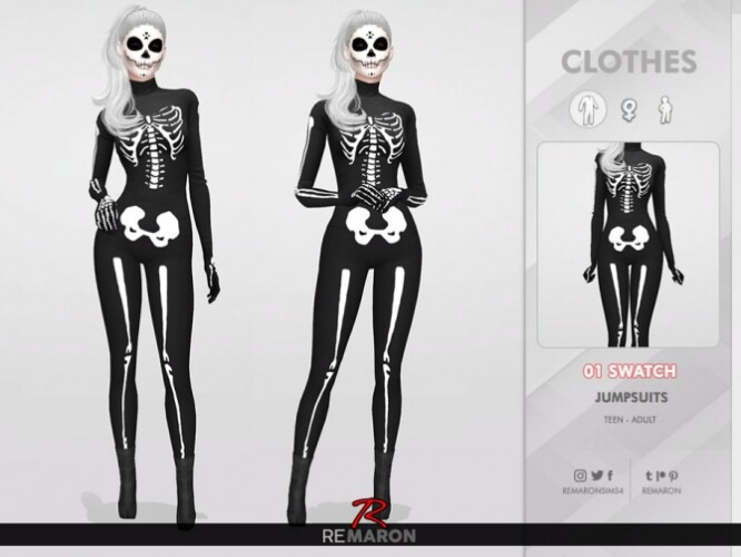 Halloween Skull Costume 01 by remaron