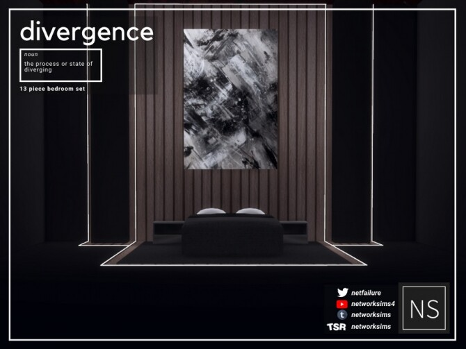Sims 4 Divergence Bedroom by Networksims at TSR
