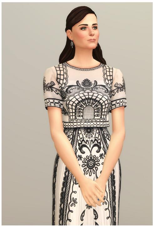 Sims 4 Embroidered Short Sleeve Dress at Rusty Nail