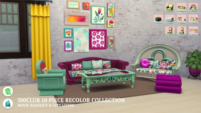 Movie Hangout/City Living 300Club Recolor Collection by ImSuanne at Mod The Sims image 1629 670x377 Sims 4 Updates