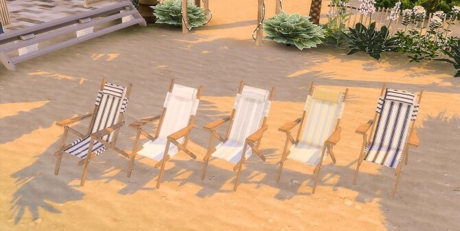 Sims 4 Beach Umbrella and Chairs at Ruby's Home Design