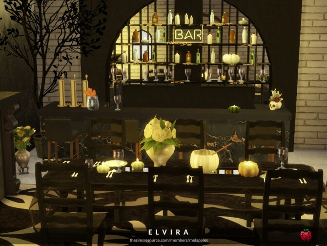 Elvira dining room by melapples at TSR image 1670 670x503 Sims 4 Updates