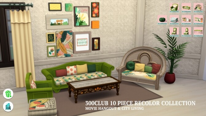 Movie Hangout/City Living 300Club Recolor Collection by ImSuanne at Mod The Sims image 1675 670x377 Sims 4 Updates