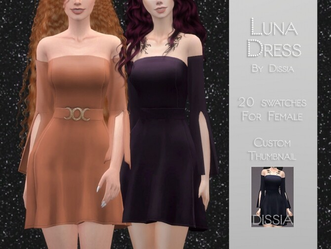 Luna Dress by Dissia at TSR image 1676 670x503 Sims 4 Updates