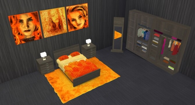 Micha Bedroom at LIZZY SIMS image 1684 670x362 Sims 4 Updates