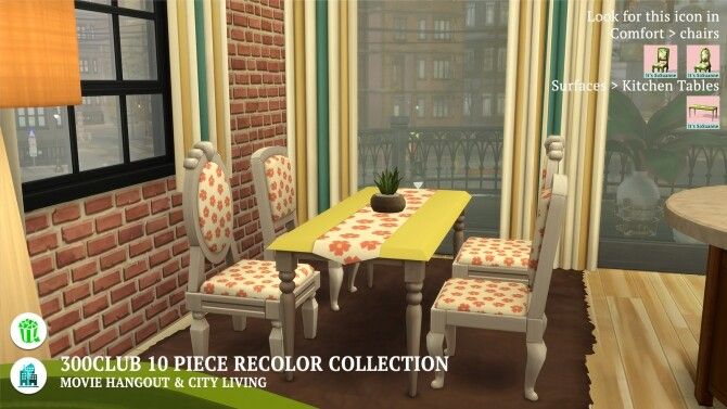 Movie Hangout/City Living 300Club Recolor Collection by ImSuanne at Mod The Sims image 1685 670x377 Sims 4 Updates