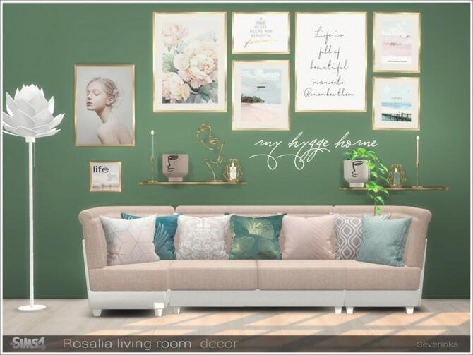 Rosalia livingroom decor by Severinka at TSR image 1686 670x503 Sims 4 Updates