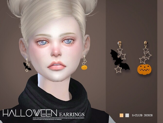 Sims 4 EARRINGS 202028 by S Club at TSR