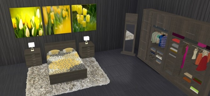 Micha Bedroom at LIZZY SIMS image 1704 670x309 Sims 4 Updates