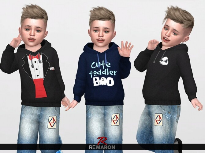 Halloween Hoodie for Toddler 01 by remaron at TSR image 1706 670x503 Sims 4 Updates