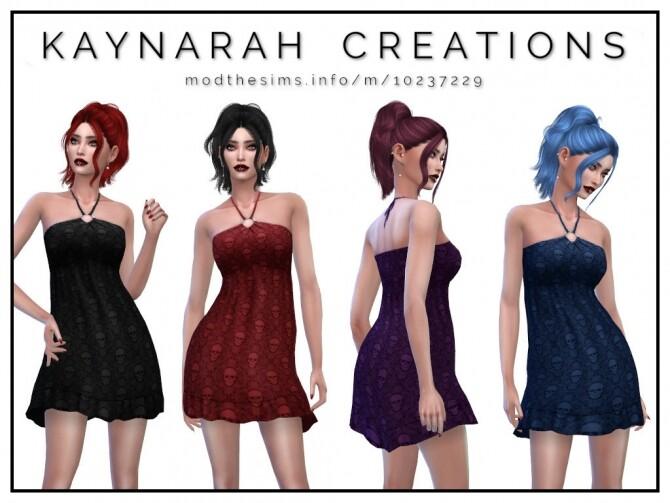 Sims 4 Summer Skulls Dress (KC2) by Kaynarah at Mod The Sims