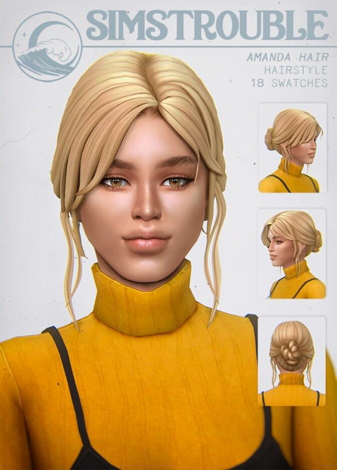 Sims 4 AMANDA hair at SimsTrouble