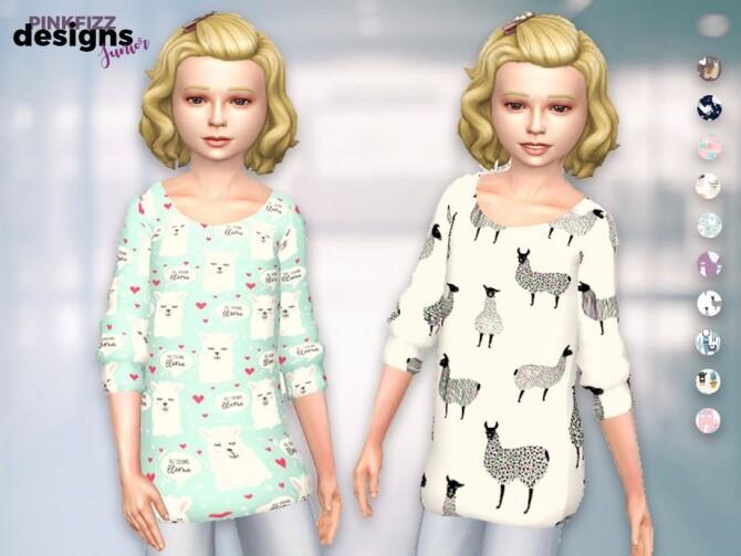 Sims 4 Junior Alpaca/Llama Big Jumper by Pinkfizzzzz at TSR