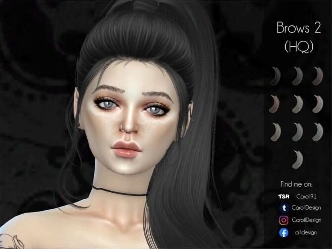 Sims 4 Brows 2 HQ by Caroll91 at TSR