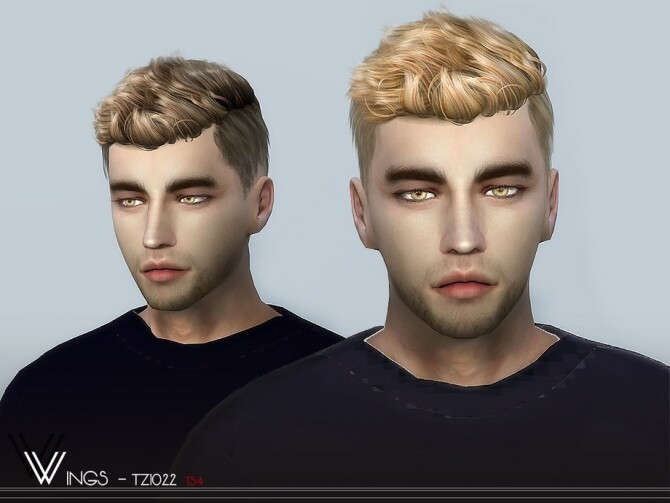 Sims 4 WINGS TZ1022 hair by wingssims at TSR