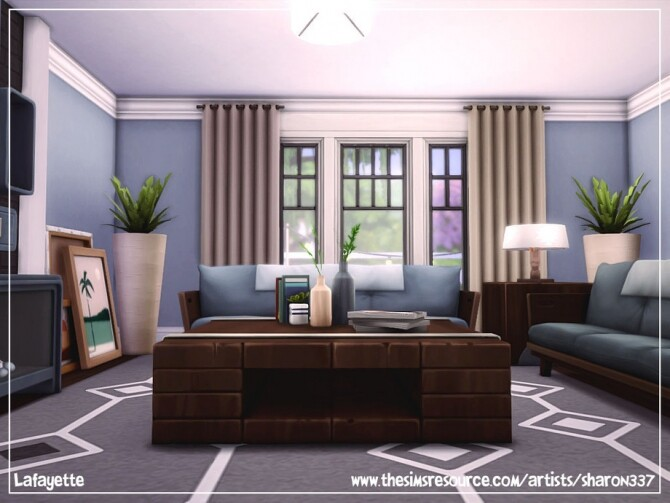 Sims 4 Lafayette home by sharon337 at TSR