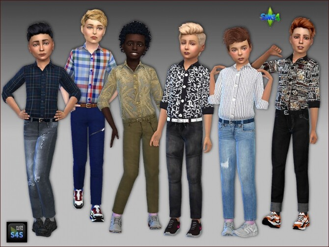 Sims 4 Outfit for boys by Mabra at Arte Della Vita