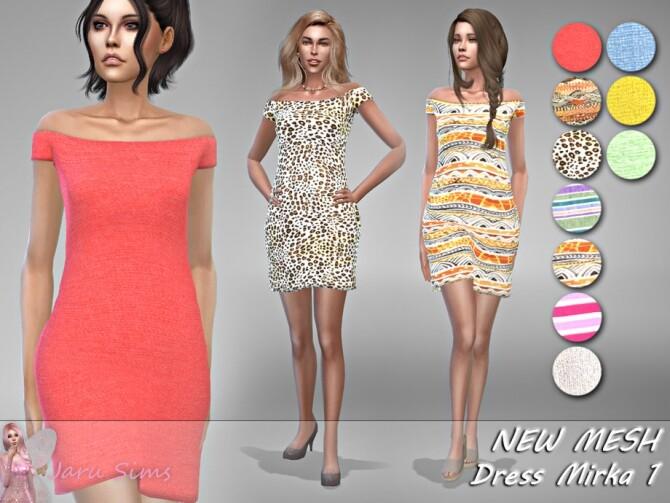Sims 4 Dress Mirka 1 by Jaru Sims at TSR