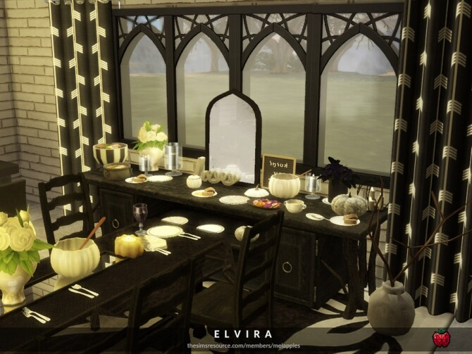 Elvira dining room by melapples at TSR image 1750 670x503 Sims 4 Updates