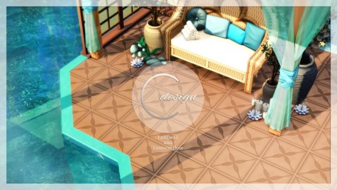 Lolli Wall and Linoleum Floor