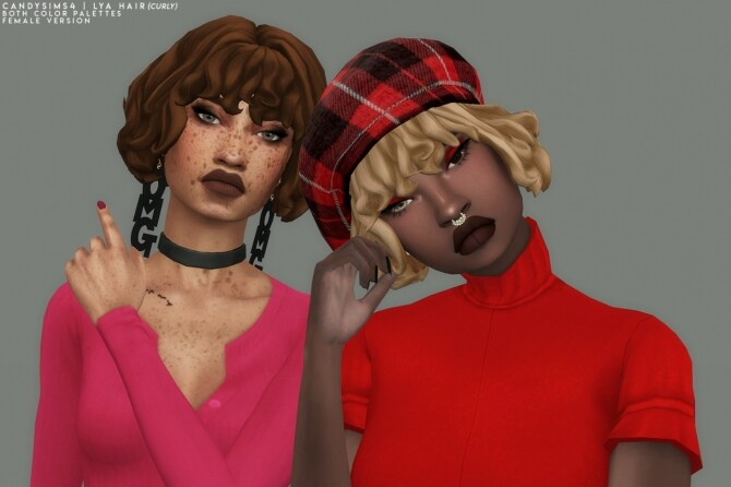 LYA HAIR CURLY EDITION at Candy Sims 4 image 1764 670x446 Sims 4 Updates