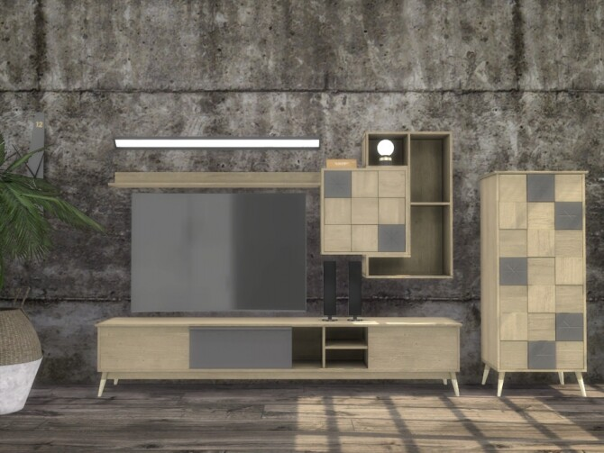 Turin Living Room TV Units by ArtVitalex at TSR image 18010 670x503 Sims 4 Updates