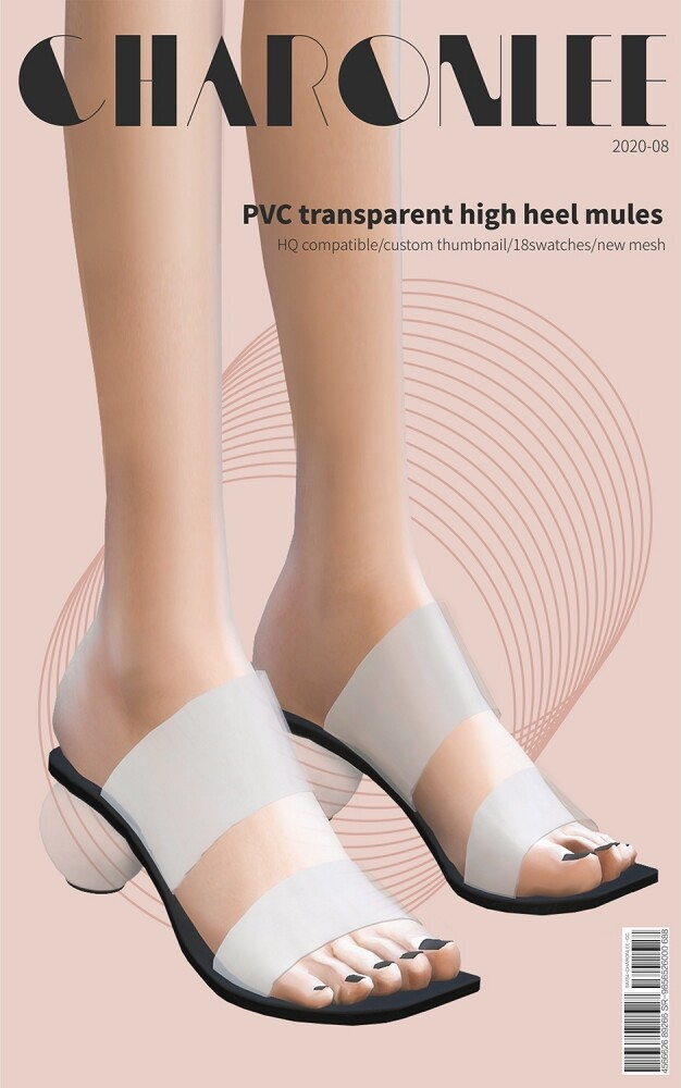 PVC transparent high heel mules at Charonlee image 18111 626x1000 Sims 4 Updates