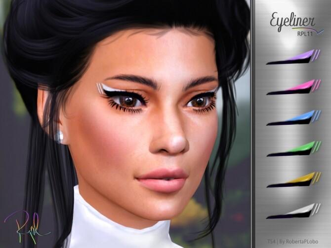Sims 4 Eyeliner RPL11 by RobertaPLobo at TSR
