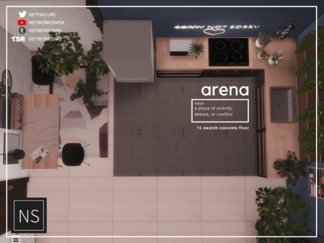 Arena Concrete Floor by networksims