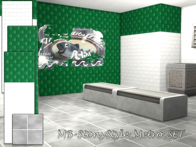 Sims 4 MB Stony Style Metro SET by matomibotaki at TSR
